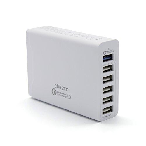 cheero 6 USBポート AC アダプタ 急速充電器 (QC3.0:1ポート対応) iPhone&Android対応 Auto-IC機能搭載 Qua...