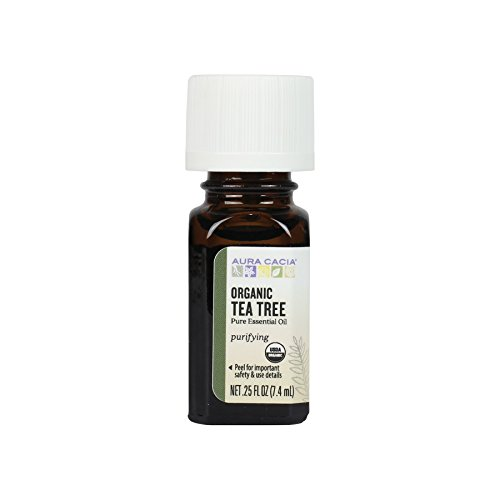 Aura Cacia Certified Organic Tea Tree Essential Oil, 0.25 Ounce (Pack of 24)