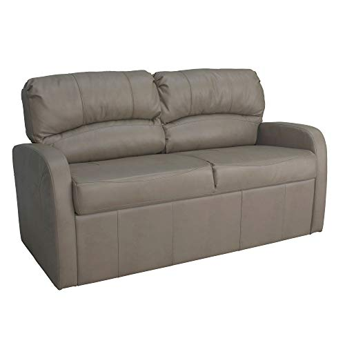 """RecPro Charles 65"""" Jack Knife RV Sleeper Sofa with Arms   RV Furniture   Zero Wall Hugger (Putty)"""