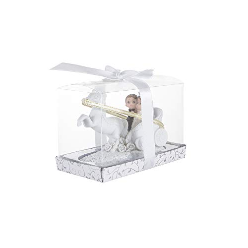 Mega Favors Keepsake Figurine 12 pcs Baby Wedding Couple on Horse Carriage   Awesome Decorations, Cake Toppers or Party Favors   for Wedding Parties and Special Celebrations