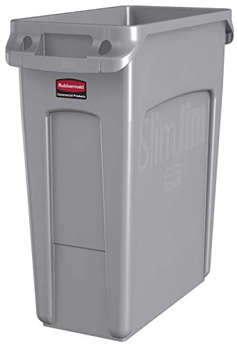 30 L Rubbermaid Commercial Products 1901986 StepOn Cestino in Acciaio Inossidabile Fine Passo Nero