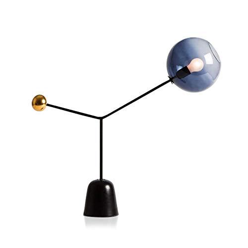 Yjdr Lámpara De Mesa De Cristal Minimalista Nórdica De 25 Pulgadas Post-moderno Dormitorio Mesa De Noche Lámpara Mármol Personalidad Modelo Modelo Lámpara De Decoración De La Habitación, E27 Fuente De