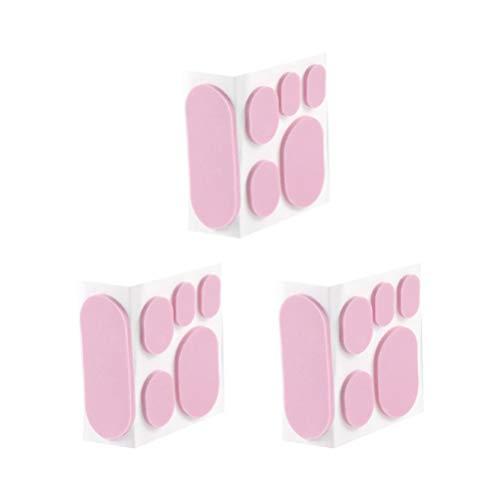 Milisten 3 Hojas / 18 Piezas Pegatinas Almohadillas de Prevención de Ampollas Almohadillas Adhesivas Pies de Talón Cinta de Talón Pegatinas Antidesgaste para Zapatos de Tacón Alto