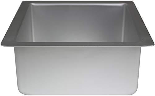 PME Cuadrado Molde para Pastel de Aluminio, Plateado, 10 x 10 x 4 Pulgadas