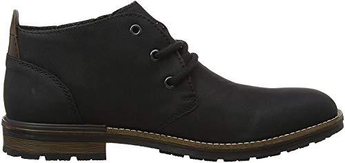 Rieker Herren B1340 Desert Boots, Schwarz (Schwarz/Kastanie 01), 44 EU
