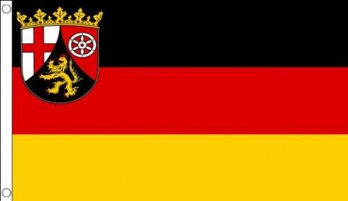AZ FLAG Flagge Rheinland-Pfalz 150x90cm - Rheinland-Pfalz Fahne 90 x 150 cm - flaggen Top Qualität