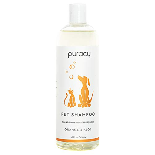 Puracy Plant-Powered Pet Shampoo, Natural Dog Shampoo for Itchy Skin Relief with Oatmeal Extract, Hypoallergenic Wash for Shiny Coats and Odor Elimination, 16 Fl Oz