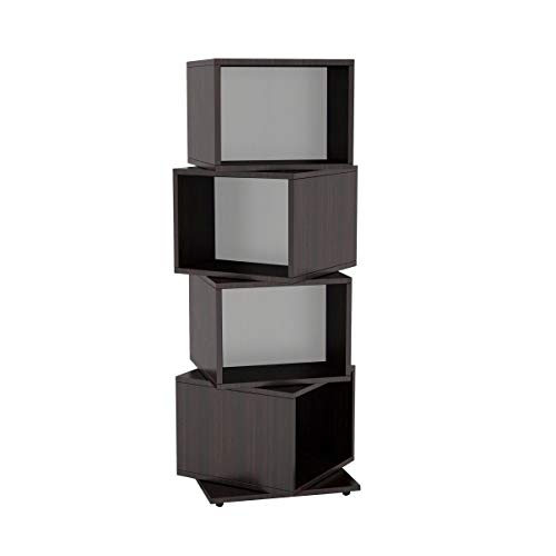 Atlantic - Torre de almacenamiento multimedia, 4 niveles, diseño de cubo giratorio
