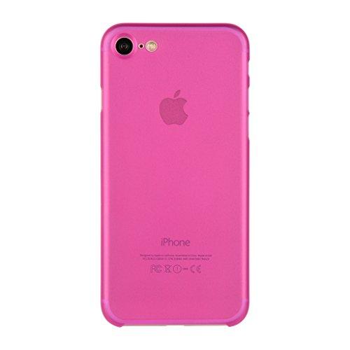 EASYPLACE Brinata Custodia Protettiva con Spessore da 0.33 mm per Apple iPhone 8, Fucsia
