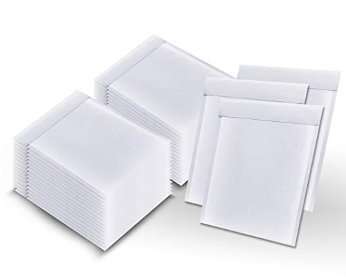 Pack of 400 White Kraft Bubble mailers 8.5 x 11 Padded envelopes 8 1/2 x 11 by Amiff. Kraft Paper Cushion envelopes. Exterior Size 9.5 x 11.5 (9 1/2 x 11 1/2). Peel and Seal. Mailing, Shipping.