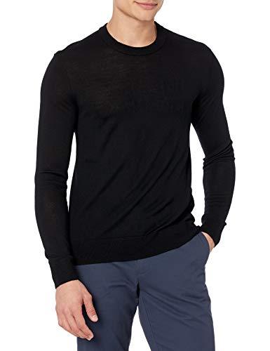 ARMANI EXCHANGE Logo Pullover Sweater Maglione, Nero, L Uomo