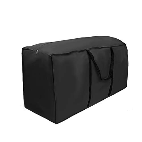 CSYP Garden home cushion storage bag (black), with three sizes of zippers, 210D Oxford cloth rectangular furniture seat protection cushion cover(173x76x51)