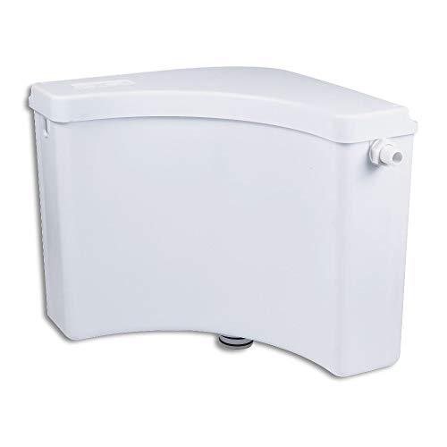 Eckspülkasten Aufputz Eck AP Spülkasten mit Spülrohr Komplett weiß