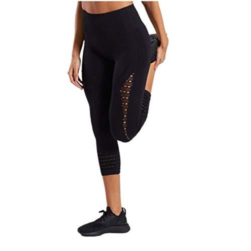Qiuday Jogginghose Damen Laufhose Lang Sportleggings Yoga-Hose Leggins Stretch Hose Tight für Yoga Sports/Laufenhoch Taillierte, Hoch...