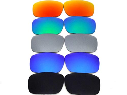 Galaxylense Lentes de reemplazo para Oakley Fives Squa para hombre o mujer 52x1.5x33 Regular Negro/Azul/Gris/Verde/Rojo