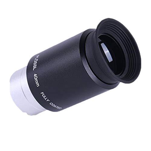 Shiwaki Ocular Do Telescópio Astronômico Plossl de 1,25 '' para Observações Lunares de Campo Amplo, Tamanho 40 Mm