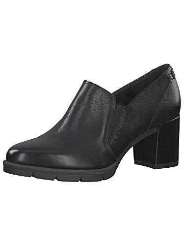 Tamaris Damen Mokassins, Frauen Slipper, Woman schlupfhalbschuh Slip-on College Schuh Loafer businessschuh weiblich,Black Uni,40 EU / 6.5 UK
