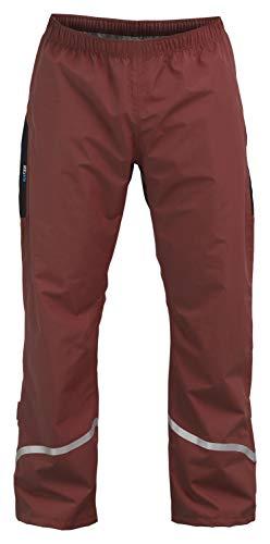 Rubberneck NXSVN Regenhose Reflektierend mit 3M Reflektor-Streifen, Wasserdicht & Atmungsaktiv Rot Größe XL