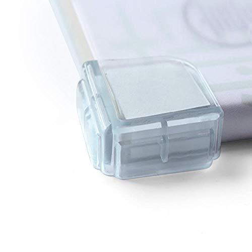 Protector de esquina de mesa de seguridad de silicona transparente anti-colisión ángulo transparente protección cubierta borde esquina guardia puerta parada