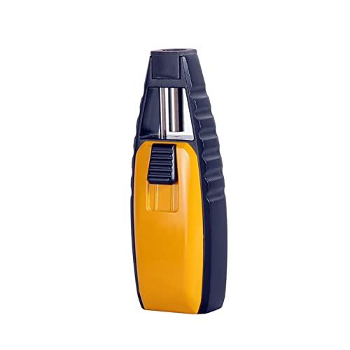 Accendisigari Butano Moda Pistola a Spruzzo Accendino Torcia Accendino Turbo Accendino Gonfiabile a Gas Antivento Utensili da Cucina per Uomo,Yellow