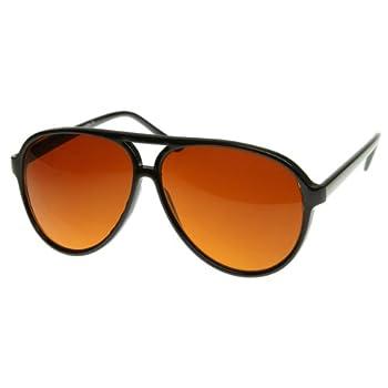 zeroUV - Retro Large Plastic Aviator Sunglasses with Blue Blocking Driving Lens Ditka Hangover Alan Burt Macklin FBI  B