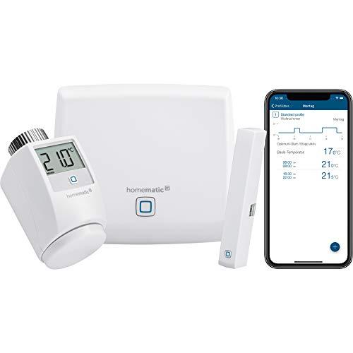 Homematic IP Smart Home Starter Set Raumklima - Intelligente Heizungssteuerung per App, 142546A0