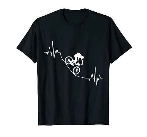 Downhill Herzschlag Fahrrad Mountainbike MTB BMX Fun Sport T-Shirt