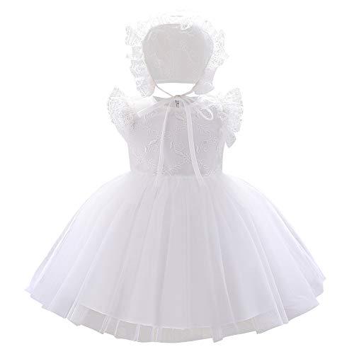 FYMNSI - Vestido de bautizo con gorro bordado, vestido corto de noche,...