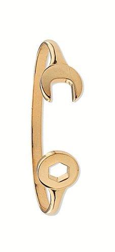 JQS-Halskette 9 Karat (375) Gelbgold Baby Schraubenschlüssel Torque Armreif 5.6 g, Taufe, Geburtstag