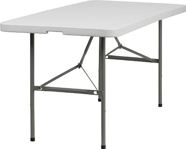 Emma Oliver 30 W X 60 L Bi Fold Granite White Plastic Event Folding Table