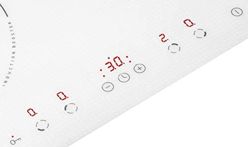 Amica 23548 PI6140PWTU - Piano cottura a induzione con 4 piastre riscaldanti, in vetro