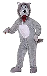 Forum Novelties Men's Storybook Big Bad Wolf Plush Mascot Costume