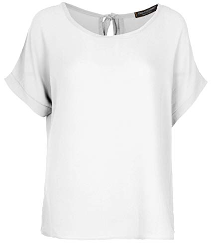 Emma & Giovanni - T-Shirt/Oberteile Oversize mit Kurzarm Segelstoffe - Damen (Weiß, 42)