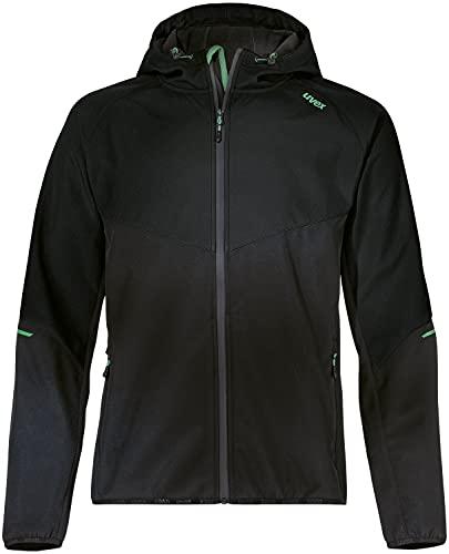 Uvex Hardhöhe Softshelljacke - Wasserabweisende Freizeitjacke aus recyceltem Polyester - Schwarz - M