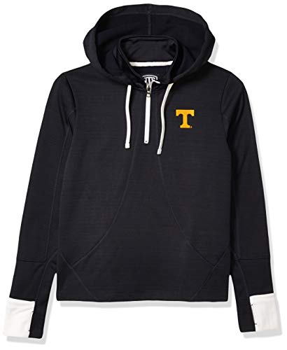 OTS NCAA LSU Tigers Women's Annabelle 1/4-Zip Pullover Hoodie, Logo, Medium