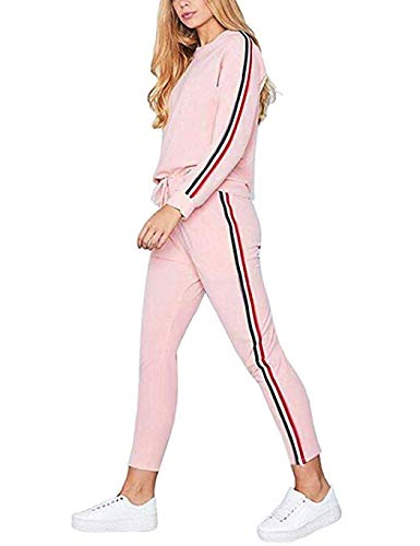 Ceanfly Damen Trainingsanzug Sportanzug Sweatshirt + Lange Hosen Lässige Sportsuit Fitness Yoga Suits Jogginganzug