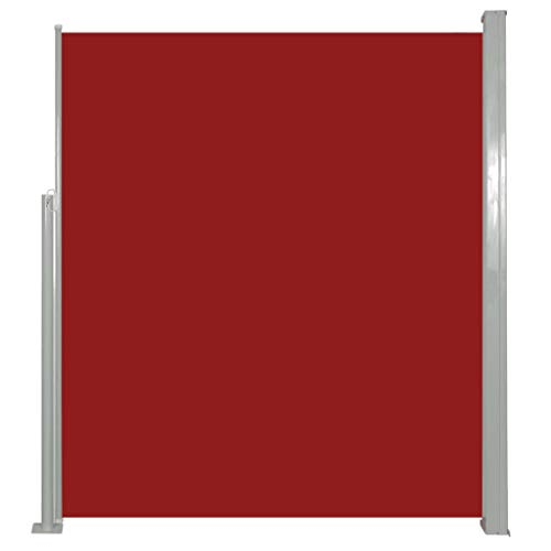 vidaXL Seitenmarkise 160x500cm Rot Sichtschutz Windschutz Sonnenschutz Markise