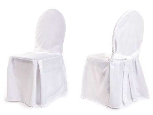 TexDeko Stuhlhussen für Bankettstühle -Modell Berlin - Weiß