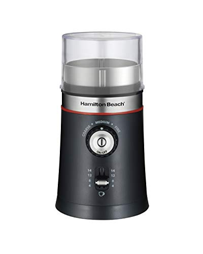 Hamilton Beach 10oz Electric Coffee Grinder with Multiple Grind Settings for up to 14 Cups,...