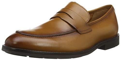 Clarks Ronnie Step, Mocassini Uomo, Marrone (Tan Leather Tan Leather), 42 EU
