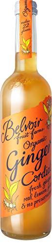 Belvoir - Sirop de Gingembre Bio - Sans Édulcorants, Sans Conservateurs ni Colorants - Infusion de Gingembre Bio, Jus de Citron Bio et Sucre Bio - Bouteille en Verre de 500 ml