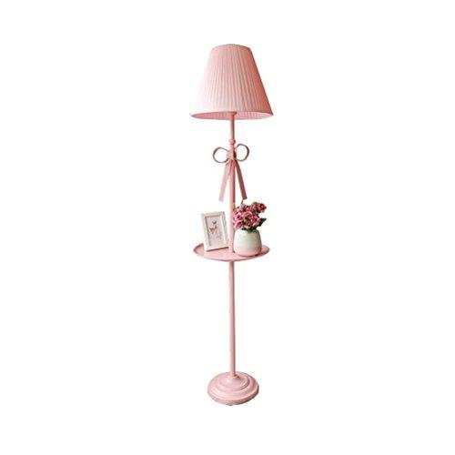 AJZGFLámpara de pie clásica Lámpara de pie dormitorio habitación infantil salón lámpara de mesa rosa Iluminación interior