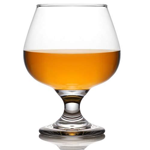 4-Piece Whiskey Glass Set - 13 Ounce Unleaded Crystal Cognac Glass Brandy Snifters for Liquor, Whisky, Scotch, Bourbon, Spirits, Vodka, Wine - Clear
