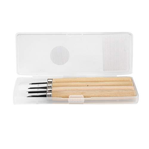 Holzschnitzerei Werkzeug, 4pcs Stempel Carving Knife Manual Sharpener für DIY Art Craft Zimmerei Anfänger Amateur(Number one)