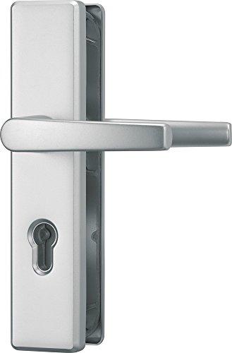 ABUS Tür-Schutzbeschlag KLS114 F1, mit beidseitigem Drücker, aluminium, 21033