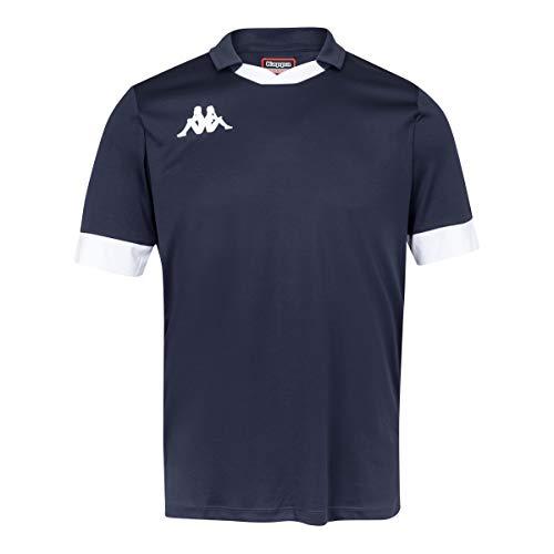 Kappa Tranio Camiseta de Equipación, Hombre, Azul Marino/Blanco (909), 2XL