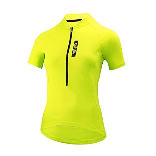 Catena Maillot de Ciclismo Mujer Camiseta Manga Corta Jersey Ropa para Bicicleta...