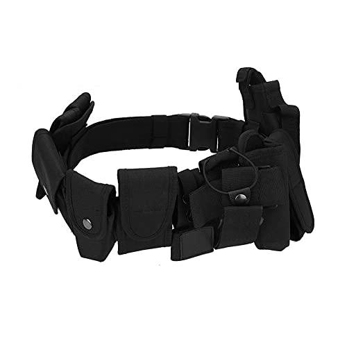LIUTT Cinturón de Servicio: táctica multifunción Guardia de Seguridad de la policía Correa de cinturón de Servicio con Bolsas Desmontables