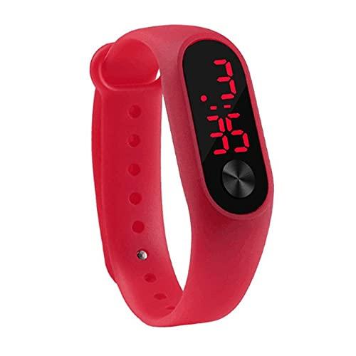 Libarty Reloj de Pulsera Deportivo Informal para Hombre, Reloj de Pulsera de Silicona cómodo Digital electrónico LED Duradero