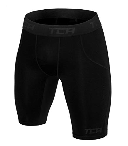TCA SuperThermal Herren Baselayer Kompressionsshorts/Thermoshorts - Black Stealth (Schwarz), L